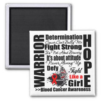 Blood Cancer Warrior Fight Slogans Fridge Magnet