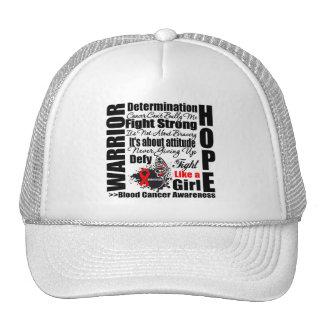 Blood Cancer Warrior Fight Slogans Mesh Hats