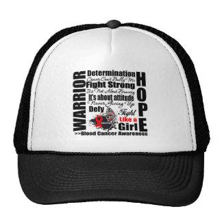 Blood Cancer Warrior Fight Slogans Trucker Hat