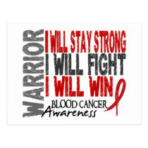 Blood Cancer Warrior Postcard