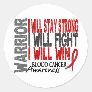 Blood Cancer Warrior Round Sticker