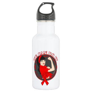 Blood Cancer We Can Do It (Asian Girl) 18oz Water Bottle