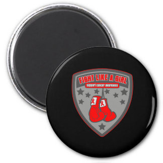 Blood Cancer Wear Fight Like A Girl Patch Refrigerator Magnet