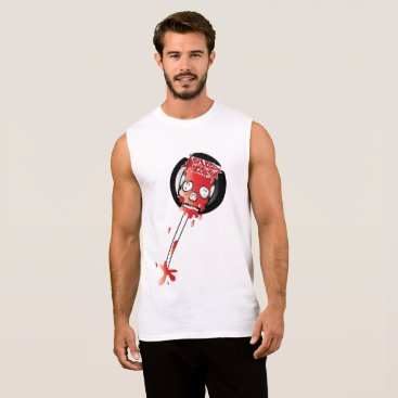 Halloween Themed Blood Candy Skull Lollipop Tank Top for Men