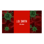 Blood Cells and Bacteria Business Card