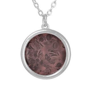 Blood Cells Round Pendant Necklace