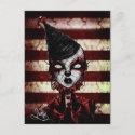 Blood Clown postcard