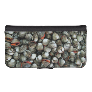 Blood Cockle Shells Wallet Phone Case For iPhone SE/5/5s