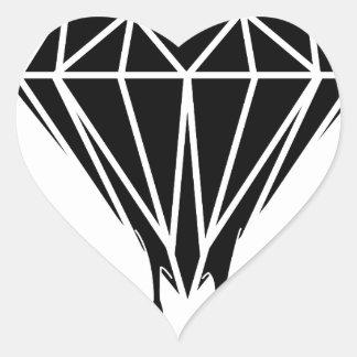 Blood Diamond Heart Stickers