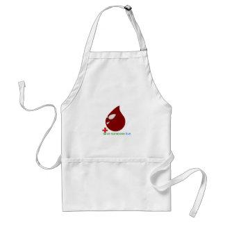 blood donation adult apron