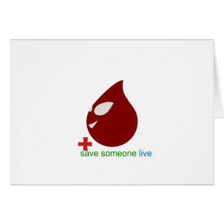 blood donation greeting card