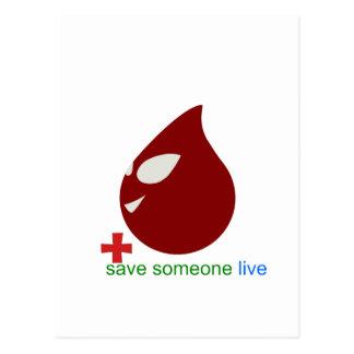 blood donation postcard