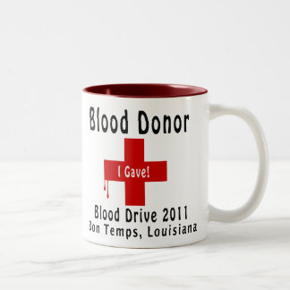 blood donor 2011 W-drops Two-Tone Coffee Mug