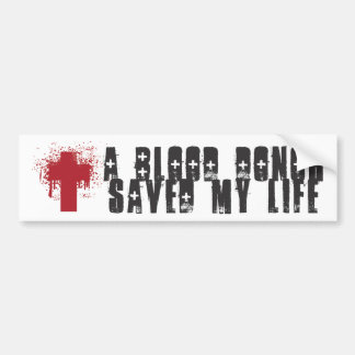 Blood Donor Bumper Sticker