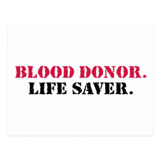 Blood Donor. Life Saver. Postcard