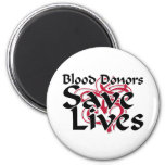 Blood donors save lives refrigerator magnets