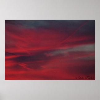 Blood Drenched Skies Print
