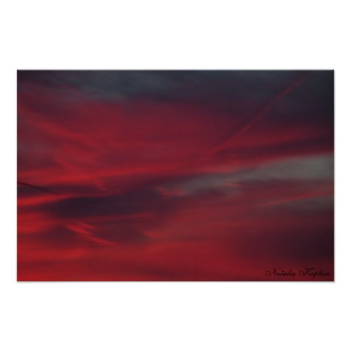 Blood Drenched Skies Poster