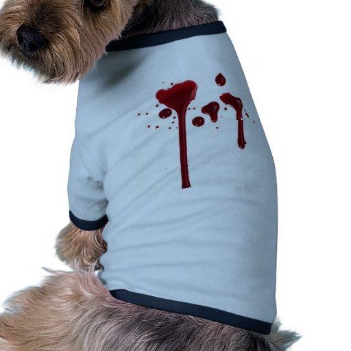 blood drip doggie shirt