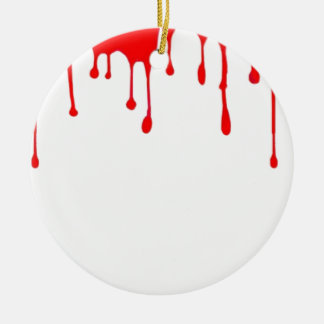 Blood Drip Halloween Party gifts by sharles Ceramic Ornament