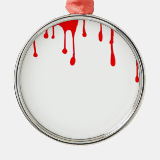 Blood Drip Halloween Party gifts by sharles Metal Ornament
