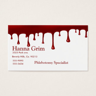 Blood Drip Set Business Card