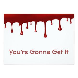 Blood Drip Set 5x7 Paper Invitation Card