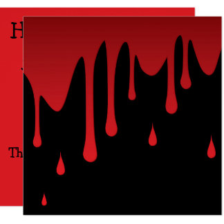 Blood dripping card