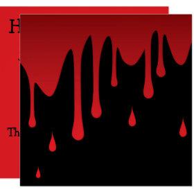 Blood dripping invitation
