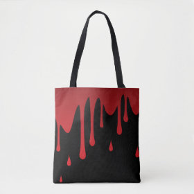 Blood dripping tote bag