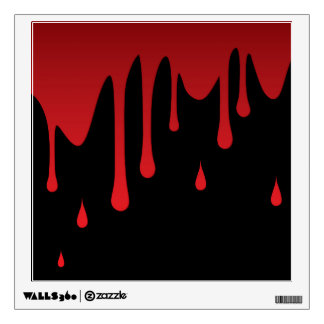 Blood dripping wall decal