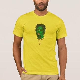 blood dripping zombie head T-Shirt