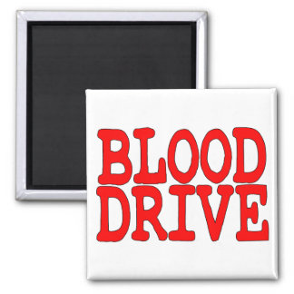 Blood Drive 2 Inch Square Magnet