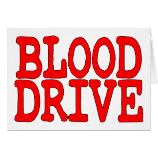 Blood Drive Card