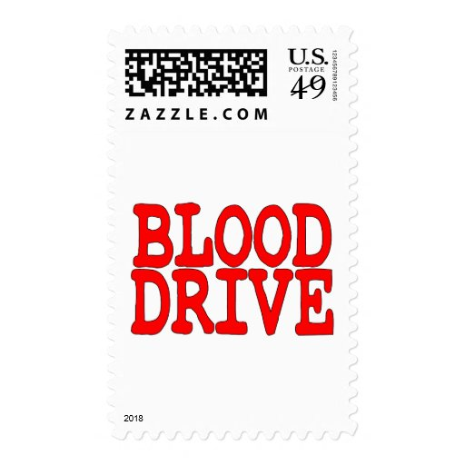 Blood Drive Stamps