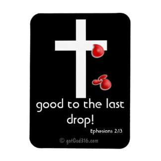 Blood Drops gotGod316.com Cross Magnet