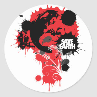 Blood Earth Stickers