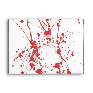 Blood Envelope For Halloween Invitations