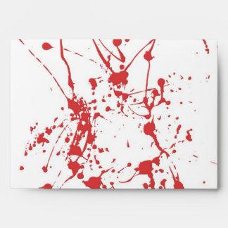 Blood Envelope For Halloween Invitations