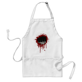 Blood fist adult apron
