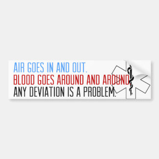 Blood goes around and around car bumper sticker