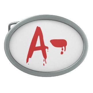 Blood Group A- Negative #Horror Hospital Belt Buckles