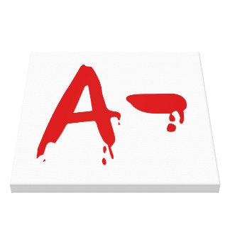 Blood Group A- Negative #Horror Hospital Canvas Print