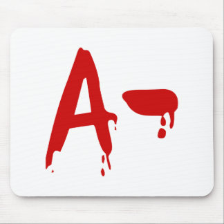 Blood Group A- Negative #Horror Hospital Mouse Pad