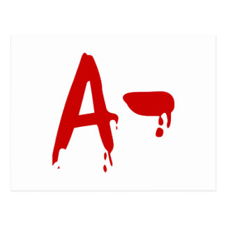 Blood Group A- Negative #Horror Hospital Postcard