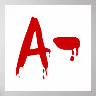 Blood Group A- Negative #Horror Hospital Poster