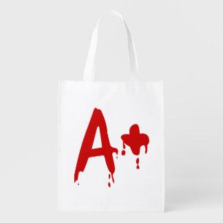 Blood Group A+ Positive #Horror Hospital Grocery Bag