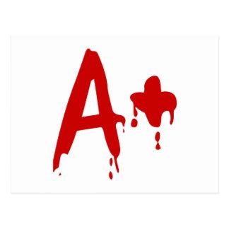 Blood Group A+ Positive #Horror Hospital Postcard