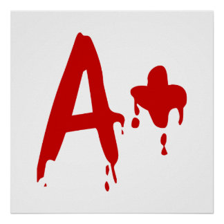 Blood Group A+ Positive #Horror Hospital Poster