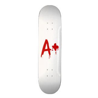 Blood Group A+ Positive #Horror Hospital Skateboard Deck